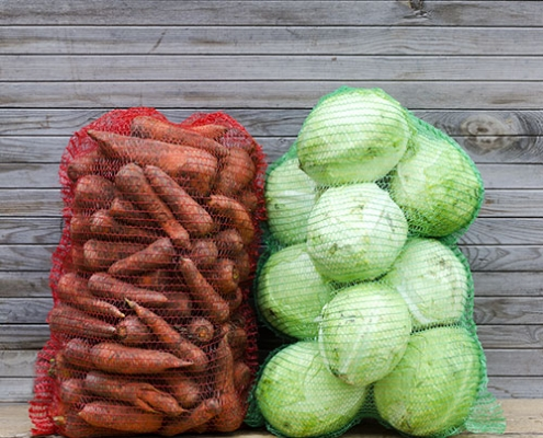 mesh bags with produce