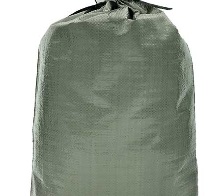 solid green woven polypropylene sand bag