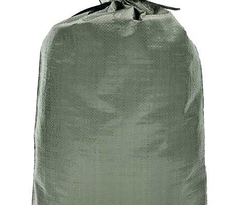 solid green woven polypropylene sand bag