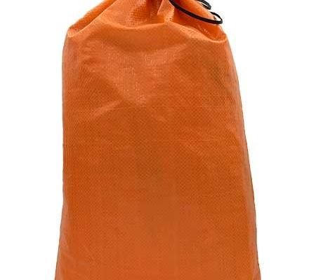 solid orange polypropylene sand bag
