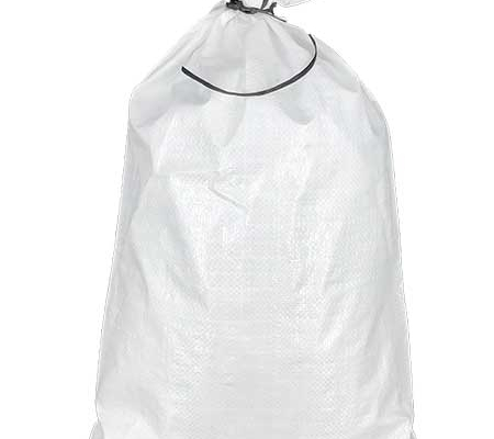 solid white polypropylene sand bag