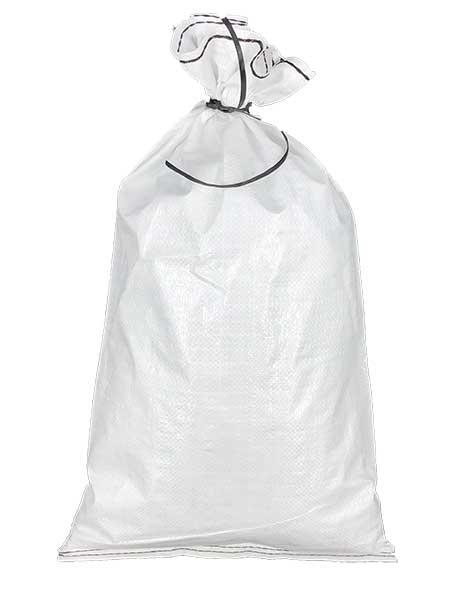 solid white polypropylene sand bag
