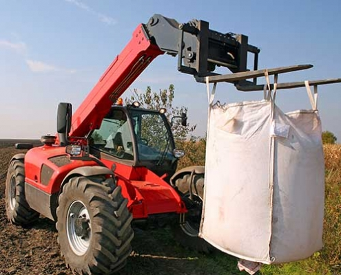 Agricultural FIBC bulk bag on a farm
