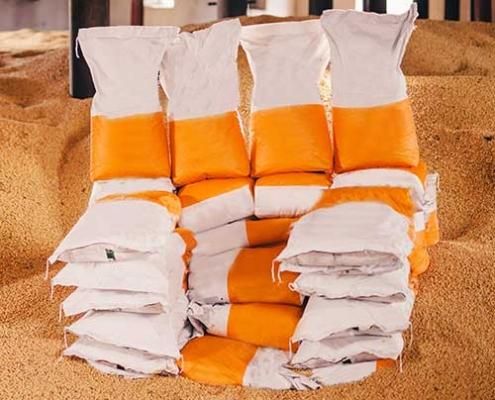 Filled BOPP bags