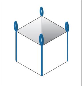 corner seam FIBC bulk bag option