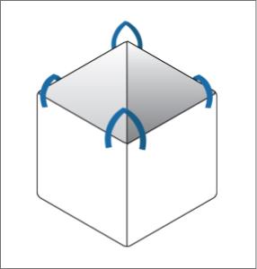 cross corner FIBC bulk bag option