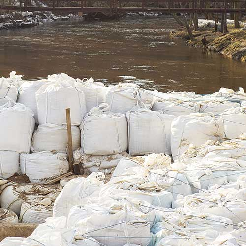 FIBC bags preventing flooding