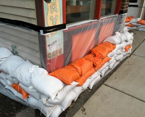 woven poly sandbags for flood protection